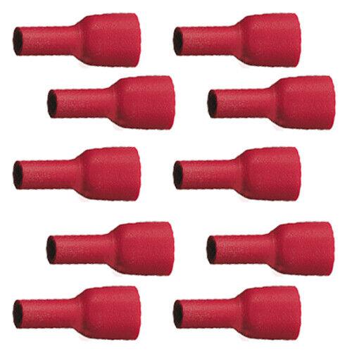 10 llena aislados fundas de conector plano 6,3 x 0,8 rojo 0,5 hasta 1,5 mm² 0,14 euros//unidad