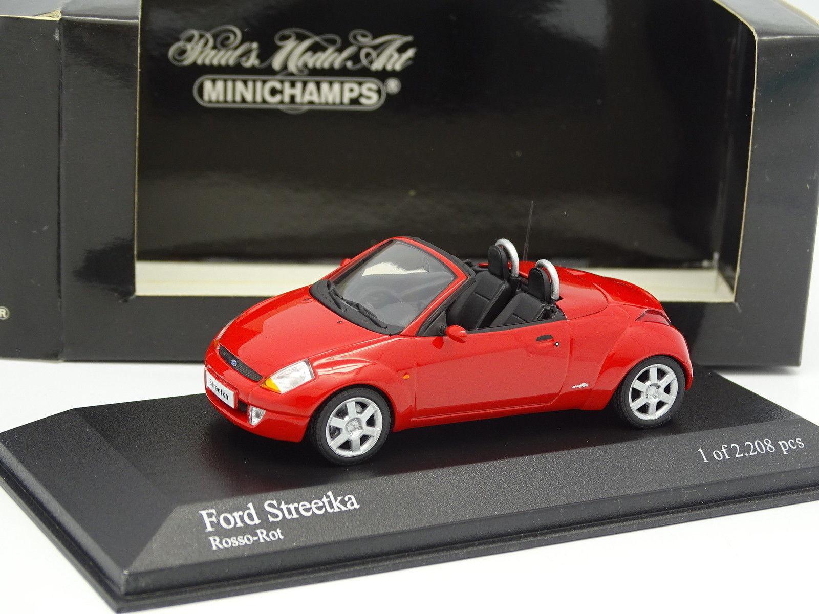 Minichamps 1 43 - Ford KA StreetKa Rouge