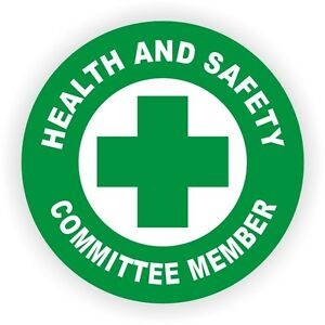 Health And Safety Committee Member Hard Hat Decal Helmet