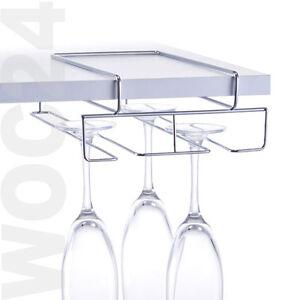Glaeserhalter-Glashalter-Halter-Weinglaeser-Sektglaeser-Glaeser-Regal-Schrank-Metall