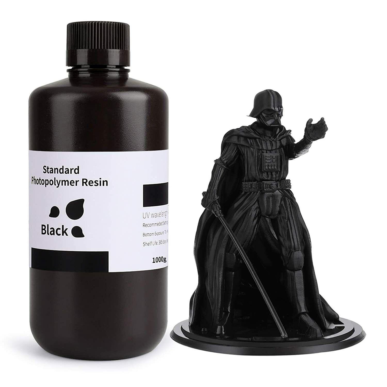 Rapid Black 1000g ELEGOO UV 405nm 3D Resin for LCD 3D Printer Photopolymer UK