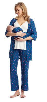 Everly Grey Womens Roxanne 5-Piece Pj Set Maternity Pajama Set