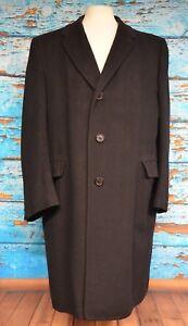 Hart-Schaffner-Marx-Men-039-s-Overcoat-Size-Medium-Cashmere-Silver-Trumpeter-Career