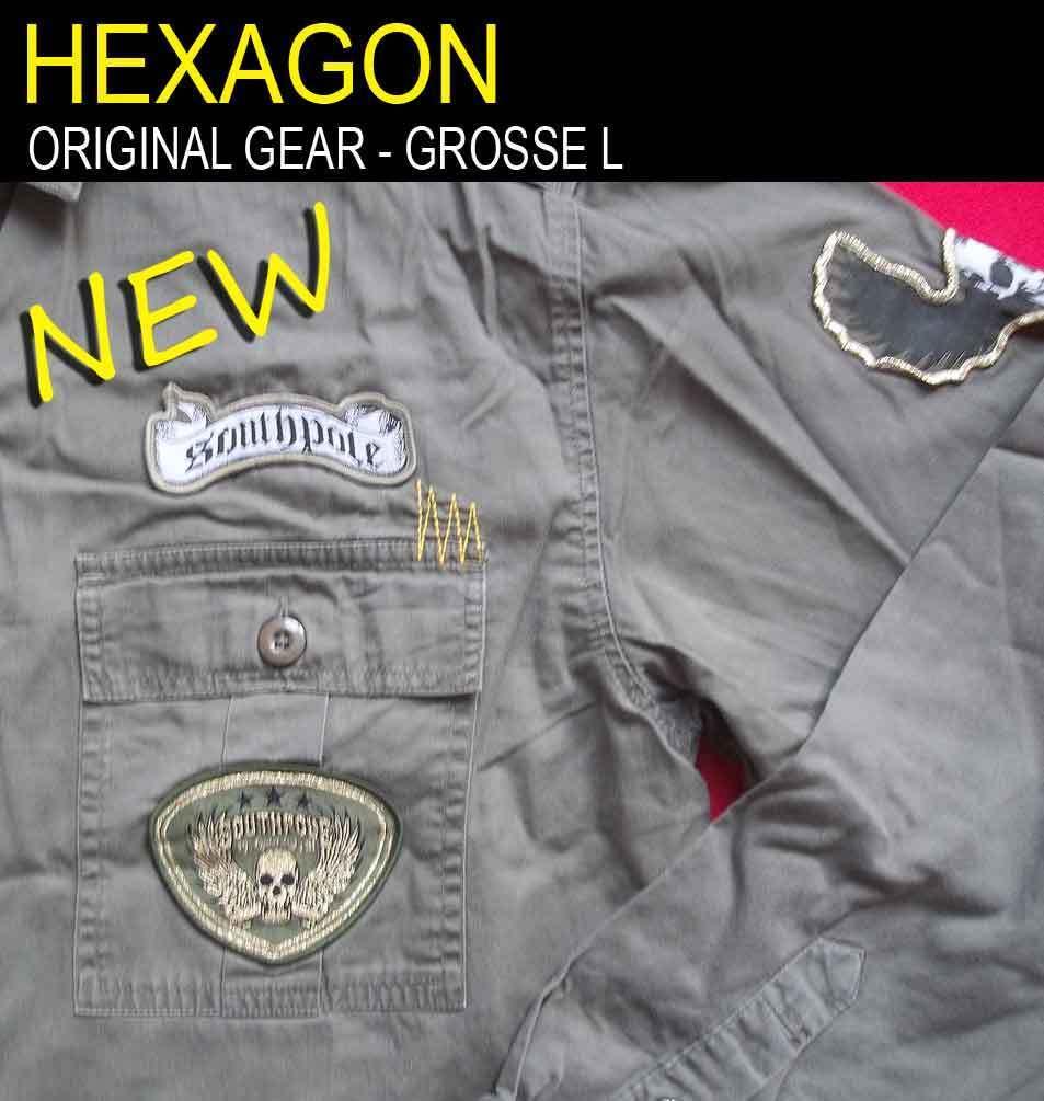 Herren Hemd - Hexagon Gear - Lange Lange Lange Armel - Grosse L   Internationale Wahl  cb59ec