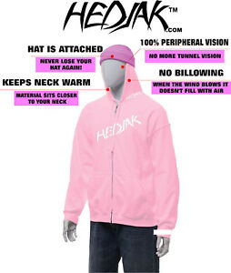 HEDJAK-Safety-Hoodie-Pink-Zip-Up-or-Pullover-Hooded-Sweatshirt-Youth-or-Adult