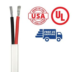 White PVC Jacket Tinned Copper Boat Cable 8//2 AWG Duplex Flat DC Marine Wire Red//Black Conductor Made in The USA