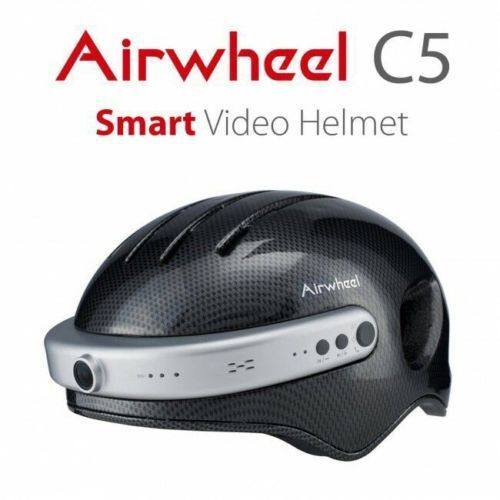 Airwheel C5 Crash Casco azultooth 2k Video Cámara Foto Ciclo Casco Carbono L