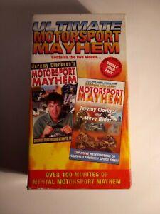 ULTIMATE MOTOR SPORT MAYHEM VHS BOX SET JEREMY CLARKSON - GOOD CONDITION