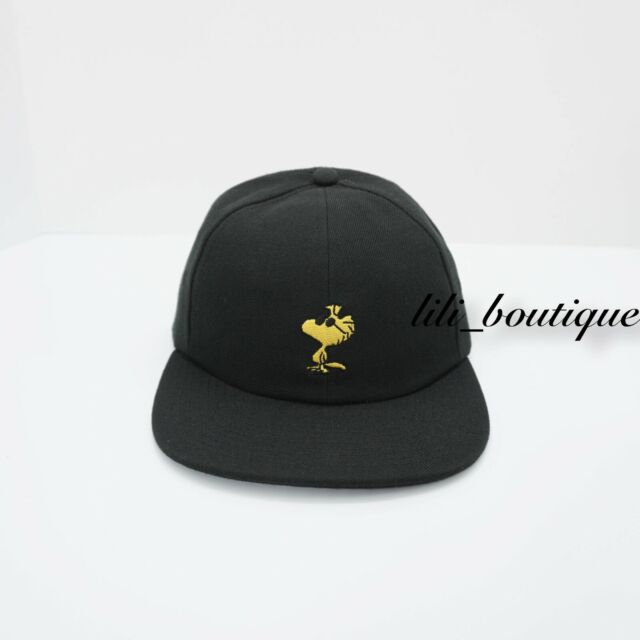 b9072a00 VANS X Peanuts Jockey Snapback Hat Vn0a36isblk Black One Size With Tags