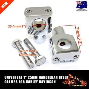 Vertical-Chrome-Motorcycle-Billet-Handlebar-Bar-Riser-1-034-inch-for-Harley-Custom