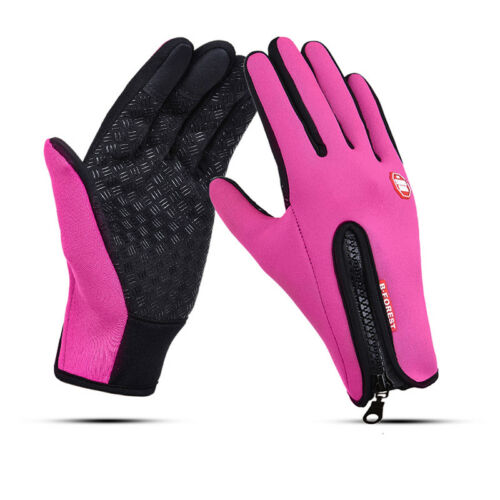 Mens Winter Gloves Touch Screen Soft Fleece Cold Weather Mittens Cycling Driving