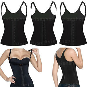 66c27f07b4 Image is loading Underbust-Vest-Waist-Cincher-with-straps-Trainer-Girdle-