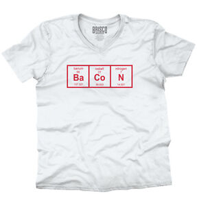 d2d08862 Period Table Bacon Shirt | Funny Geek Nerd Breakfast Science V-Neck ...