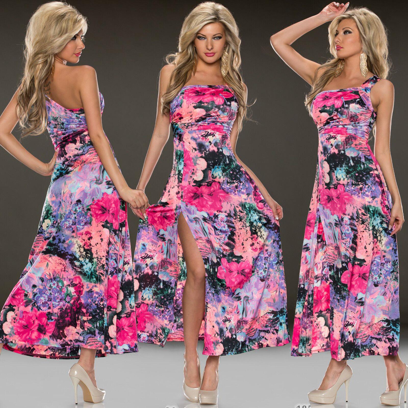 Top Women Maxi Dress Clubbing Ladies Party Open Slit Long Blouse Size 6 8 10 12