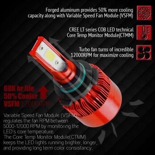 2PCS H4 LED Total 488W Headlight Kit Bulbs 6000K White US PK 9005 9006 H11