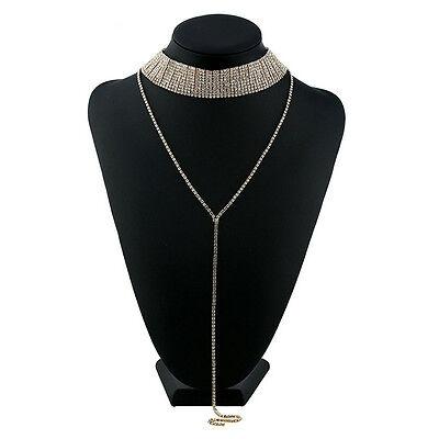 Fashion Women Chain Choker Chunky Statement Bib Collar Pendant Necklace Jewelry