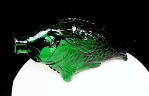 ART-GLASS-MID-CENTURY-EMERALD-GREEN-FISH-SHAPED-13-1-2-034-DECANTER