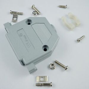 2Pcs Plastic Cover Housing Hood For D-SUB 50 Pin 3 Rows Connector With Hardware