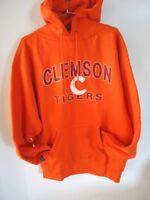 Jansport Clemson Tigers Sweatshirt Mens Large Hooded Orange High Quality