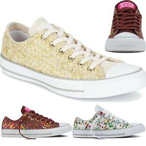 bd15223ef05b Womens Ladies New All Star Converse Woven Printed Fashion Sneaker ...