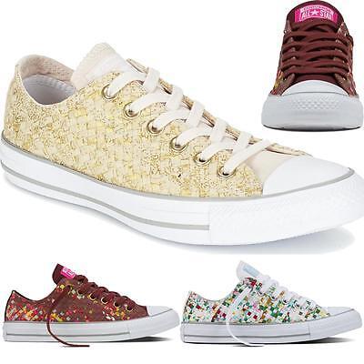 Détails sur Femme femmes neuf all star converse tissé imprimé fashion baskets chaussures afficher le titre d'origine