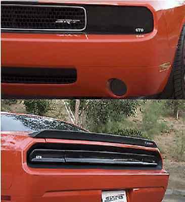 08-14 Challenger GTS Acrylic Smoke Headlight Taillight Center Panel Covers 5pc