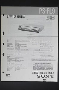 image is loading sony-ps-fl9-original-service-manual-guide-wiring-