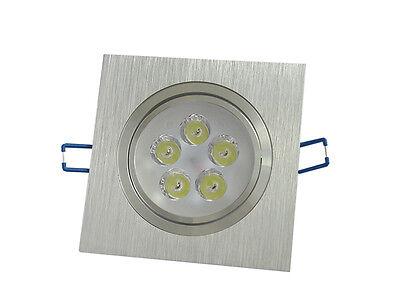 10pcs 3W Led Spot Encastrable Orientable Lumière Blanc Carré Argenté Plafonnier