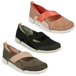 Casual Deporte Bajo Cordones Clarks Sin Elástico Tacón Mujer Zapatos HTxnw01Y