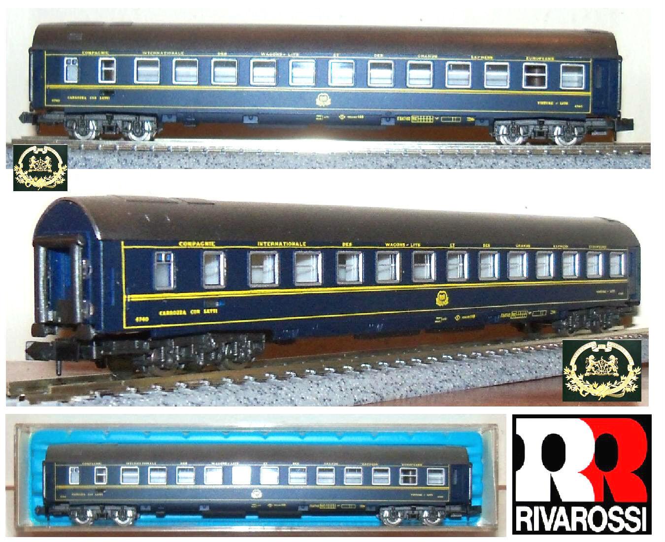 Rivarossi 2686 Vintage Sleeper Compartment Sleeping Car CIWL FS  4740 OVP scale-N