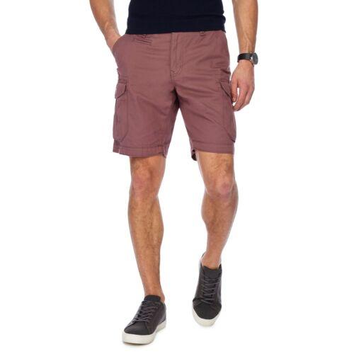 Red Herring Men Dark Pink Regular Fit Cargo Shorts