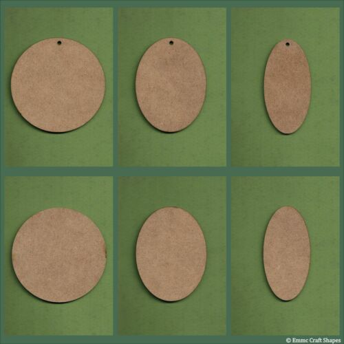 2mm MDF MDF Wooden circle and oval blanks for crafts signs and plaques