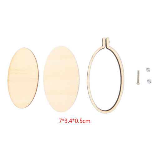 Mini Wooden Cross Stitch Hoop Ring Embroidery Circle Sewing Kit Frame Craft