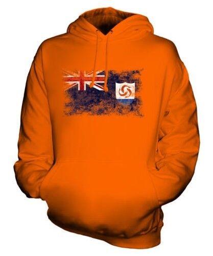 Anguilla Bandiera Effetto Consumato Felpa Unisex Maglia Football Jersey Regalo