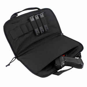 Pistol-Case-Shooting-Range-Handgun-Bag-Magazine-Pouch-f-Gun-Storing-Transporting