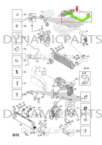 VAUXHALL VIVARO TRAFIC PRIMASTAR 1.9 DCI INTERCOOLER TURBO HOSE PIPE 8200273825