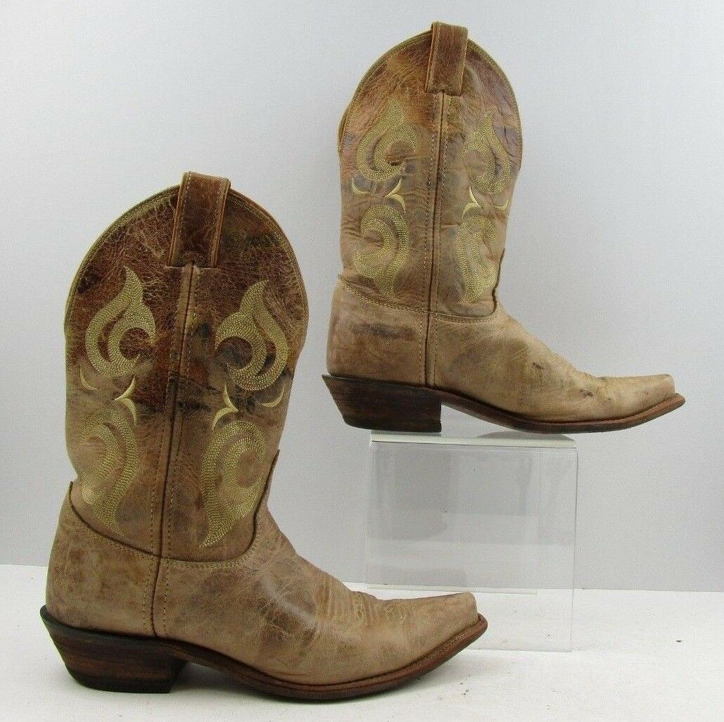 Ladies Justin Brown Distressed Leather Pointed Pointed Pointed Toe Western Boots Size  9.5 B 151d8b