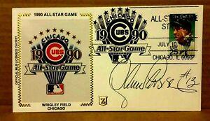 Lance Parrish CA  Angels Signed 1990 All-Star Game Z Silk  Cachet NrMt - w/COA