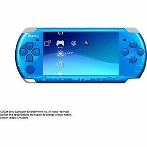 SONY-PSP-3000-Console-Blue-VGC-Warranty