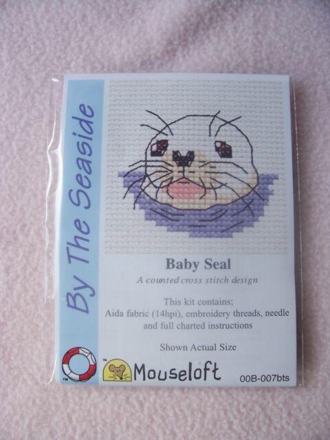 MOUSELOFT STITCHLETS CROSS STITCH KIT ~ BY THE SEASIDE ~ BABY SEAL ~ NEW