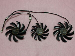 Details about 75mm + 85mm Sapphire AMD TOXIC R9 270X Tri-X R9 280X Triple  Fan Replacement R190