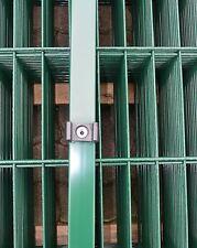 Pfosten Grün für Doppelstab-Mattenzaun Höhe 123cm + Zubehör / Gartenzaun Hoftor