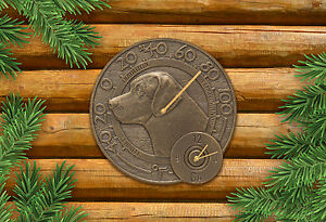 Labrador-14-034-Indoor-Outdoor-Wall-Clock-amp-Thermometer