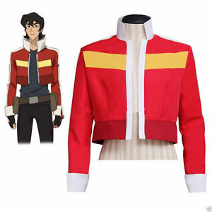 Cafiona Voltron: Legendary Defender Keith Costume Jacket Red Short ...