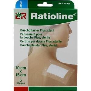 RATIOLINE-aqua-Duschpflaster-Plus-10x15cm-steril-5St-Pflaster-PZN-9508214