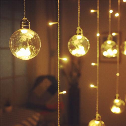 Innen und Außen Deko 2.5m String Lichter Vorhanglicht LED vorhang lichterkette