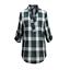 Ladies-Nicola-Checked-Shirt-Tops-Womens-T-Shirts-Cotton-Blouse-UK-8-14-16-18-20 thumbnail 34