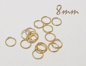 offen D Goldfarben SiAura Material 100x Binderinge 4 mm