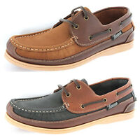 Mens Helmsman By Seafarer Leather Deck Shoes Boat Loafers Nubuck Sizes 7 - 12