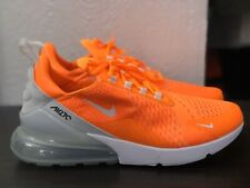 Size 7 Womens Nike Air Max 270 Ah6789 800 Orange Neon White Running Casual